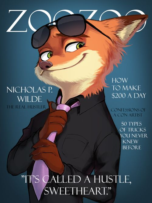 Nick Wilde from Zootopia. This is pretty great...