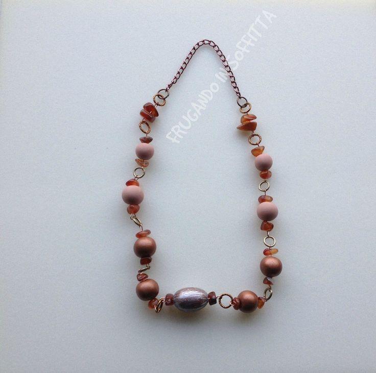 collana fatta a mano perle in pasta gabrylea