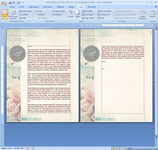 How to Repeat a Logo and Address on Each Page of Your Letterhead in Microsoft Word