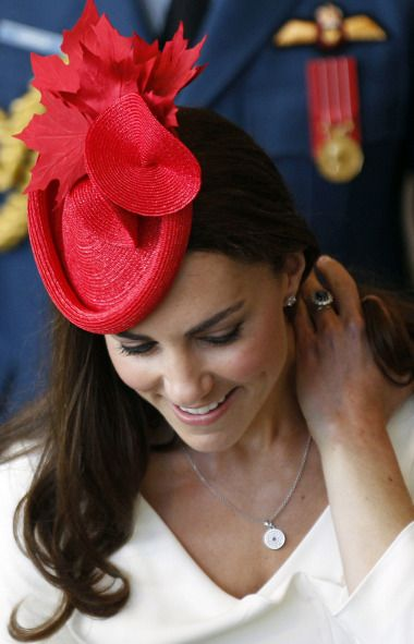 I want this Sylvia Fletcher hat dammit: Duchess Of Cambridge, The Duchess, Katemiddleton, Canada Day, Red Hats, Kate Middleton, Duchess Kate, Maple Leaves, Princesses Kate