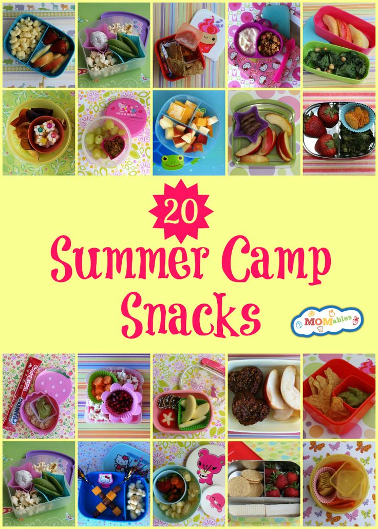 20 summer camp snacks MOMables.com: these snacks are healthier and cheaper than buying one serving packages.
