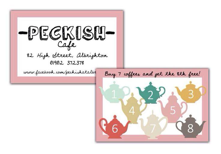 Peckish cafe loyalty cards