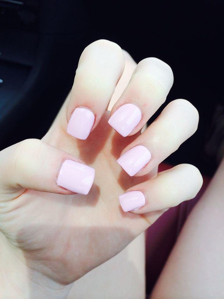 Short light pink acrylic nails | Hair, Nails, & Makeup ...