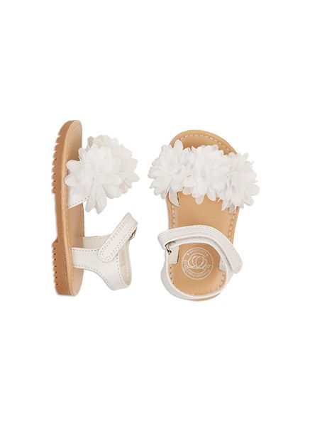 Pumpkin Patch - footwear - pompom summer sandal - S4FW30046 - bright white - 1 to 13