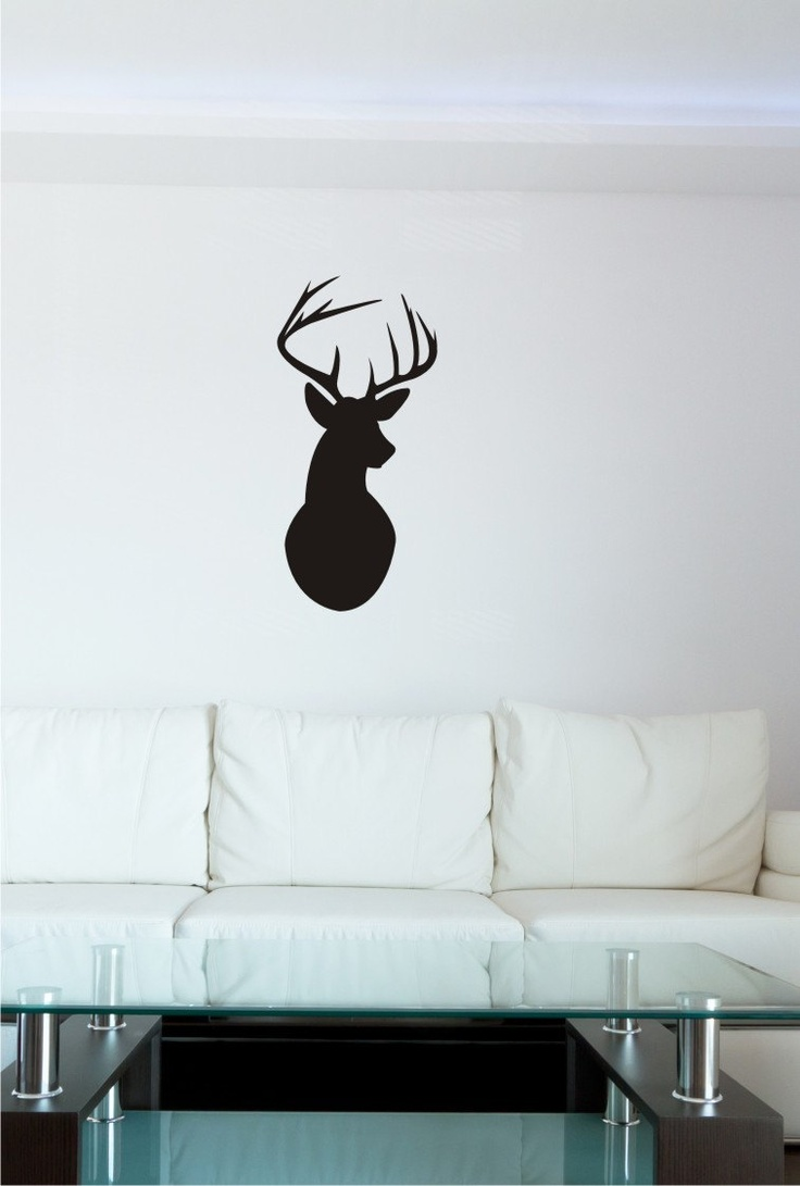 Deer head wall decal option a modern wall decals by dana decals - 396 Best Cm Office Walls Windows Images On Pinterest Office Walls Diy And Home