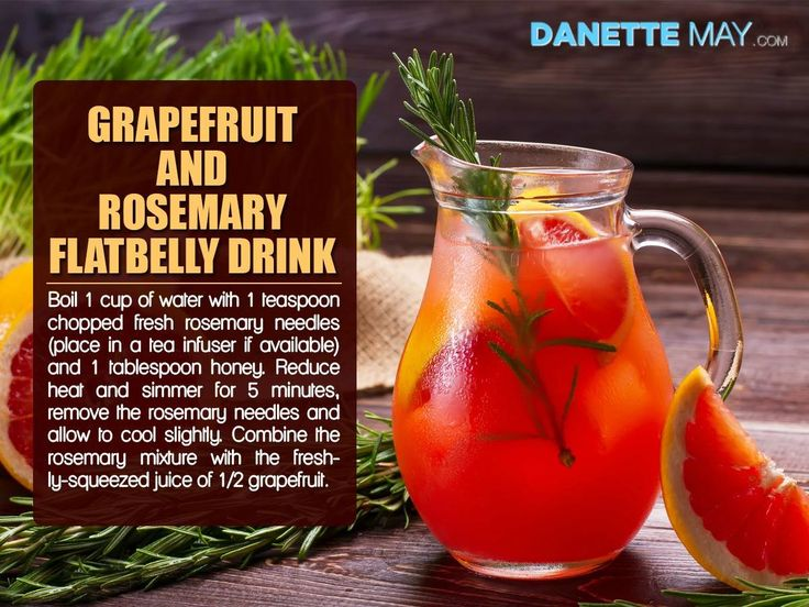 Grapefruit and Rosemary Flatbelly Drink