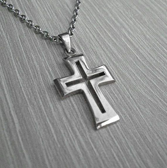 Mens silver crosssilver cross necklacemens cross