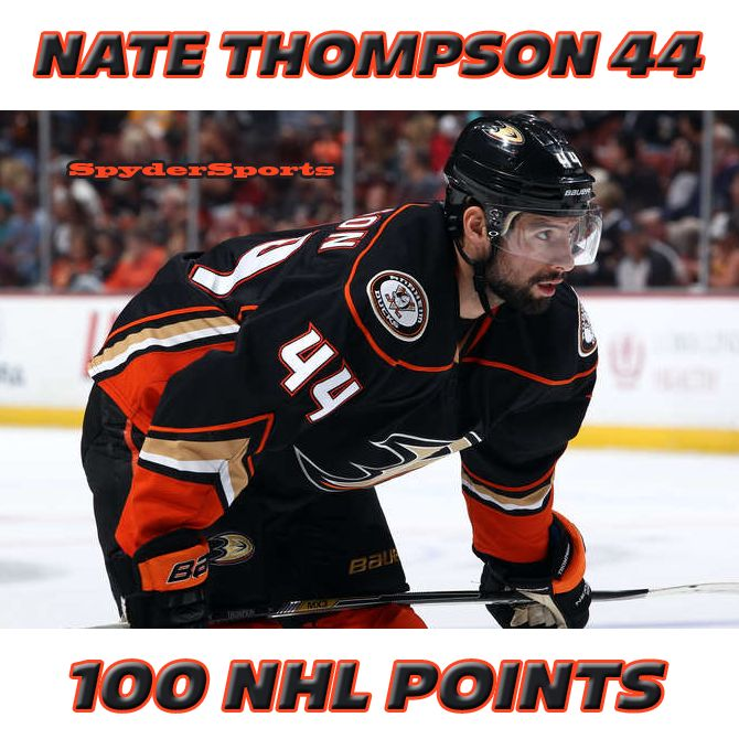 Nate Thompson Reaches 100 NHL Points | Spyder Sports Lounge