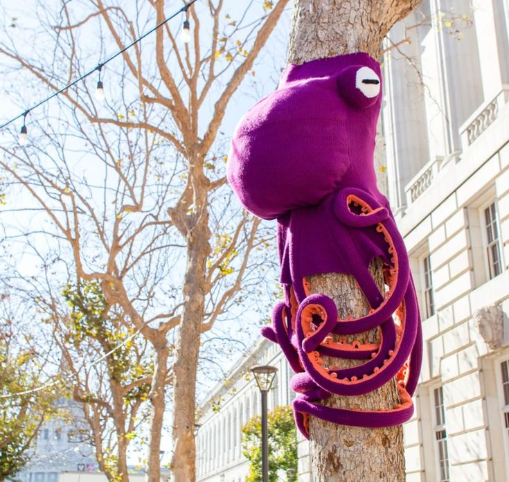 Five October Yarn Bombs that Colored the World - Crocheters Anonymous©