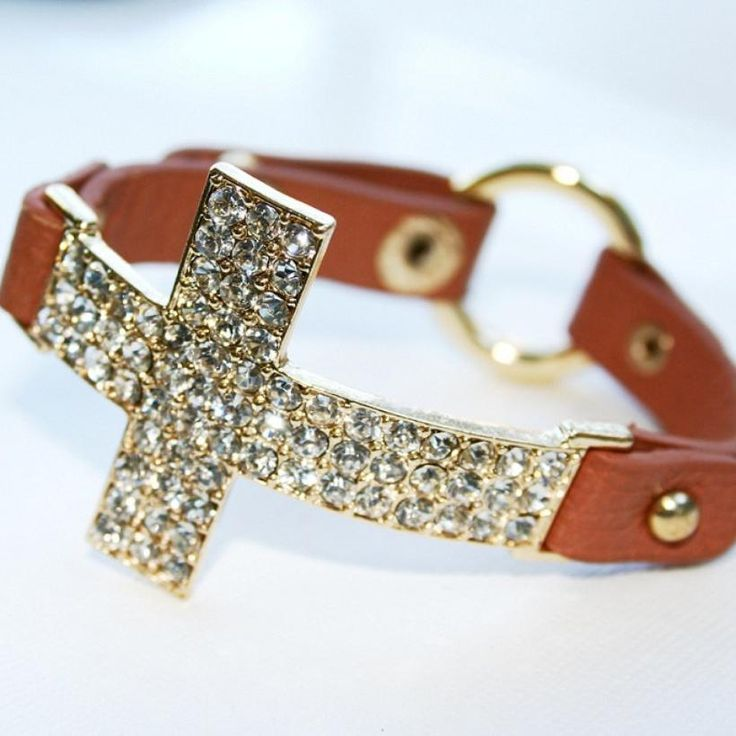 Crystal Cross Leather