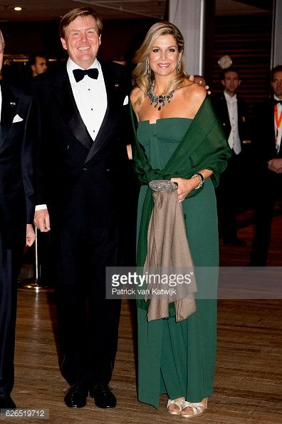King WillemAlexander and Queen Maxima at the start of the concert offered by the Belgian King in the Muziekgebouw Aan't IJ Amsterdam on Nov. 29, 2016