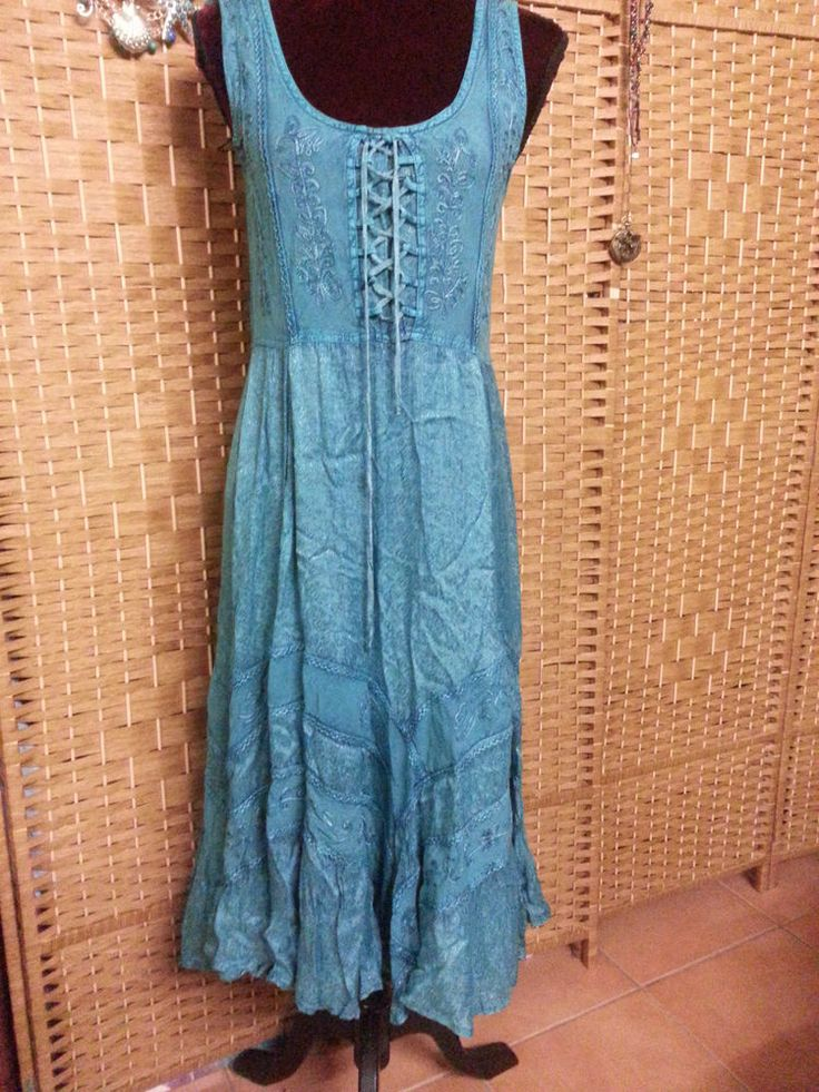 LADIES TREE OF LIFE  SEA NYMPH  PEASANT DRESS SIZE M