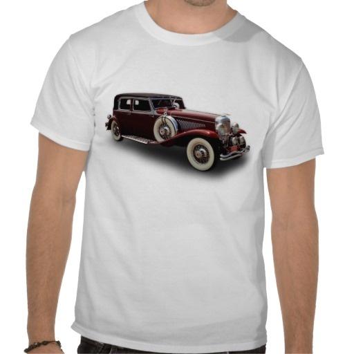 Duesenberg (Duesy) Model J Classic Car Tee Shirt $21.05 #oldtimer #cars #vintage #t-shirt