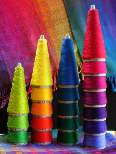 Coloured Cones of Thread ....