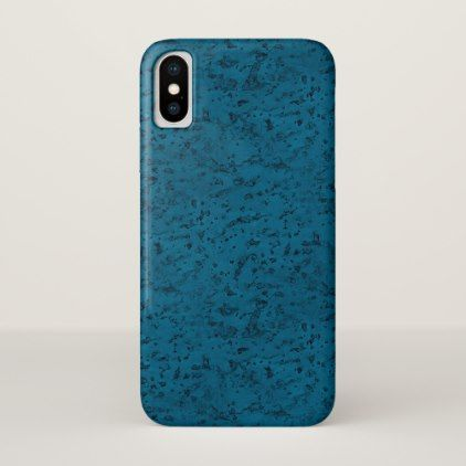 Azure Blue Cork Look Wood Grain iPhone X Case - rustic style country natural diy customize personalize