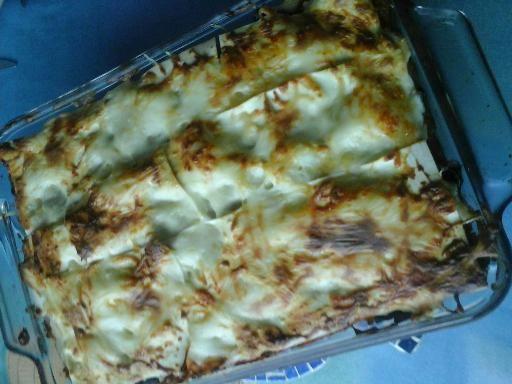 Lasagnes de blettes au curry de thon