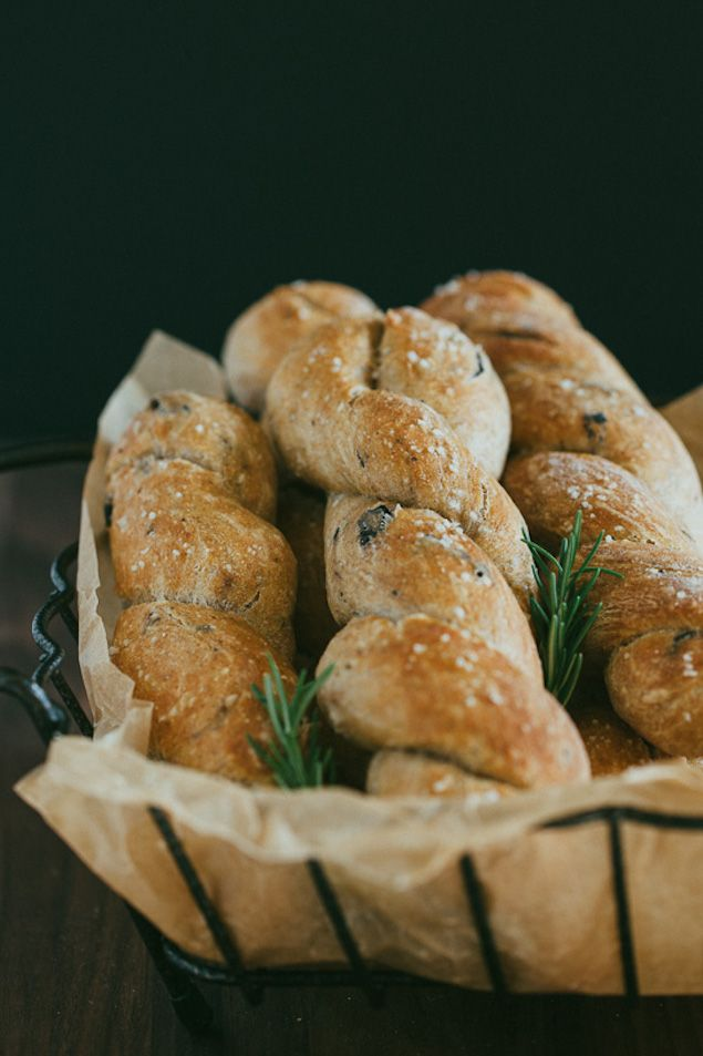 Flavorful Rosemary and Olive bread ( no knead bread that rises overnight)