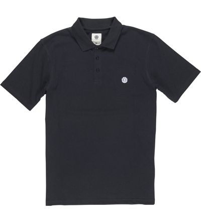 Element Freddie Polo Shirt in Flint Black (L)     Sharpen your look with this Element polo shirt. The Freddie Element polo shirt in black is just the ticket for a slick look come day or night. This mens black polo shirt is made from quality pique cotton and the branded buttons and ribbed collar finish the styling.  #Element #PoloShirts #MiniModelClothing