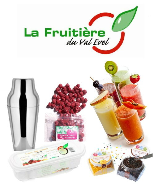 frozen fruit purees and frozen fruits IQF for cocktails