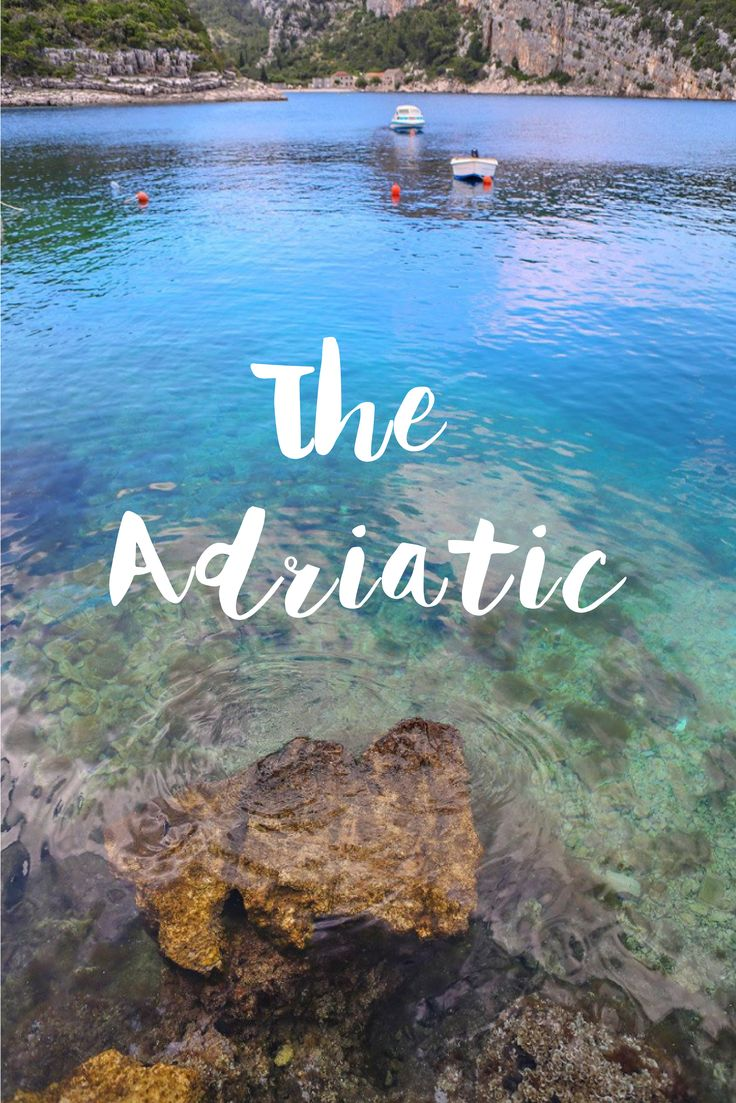 One of our favourite things about Croatia - The adriatic Sea!