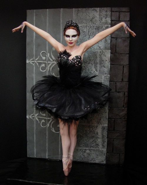 "The photo you see here is not a real person, but a one of a kind hand sculpt and set made by world class artist, Renata Jansen.  This is one of three created in tribute to Natalie Portman's performance in ""Black Swan."""