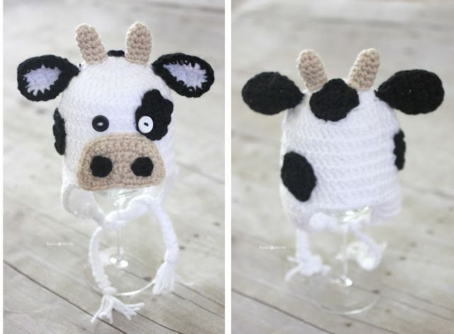 Repeat Crafter Me: Crochet Cow Hat Pattern-  Sarah's patterns are always adorable and easy to follow.