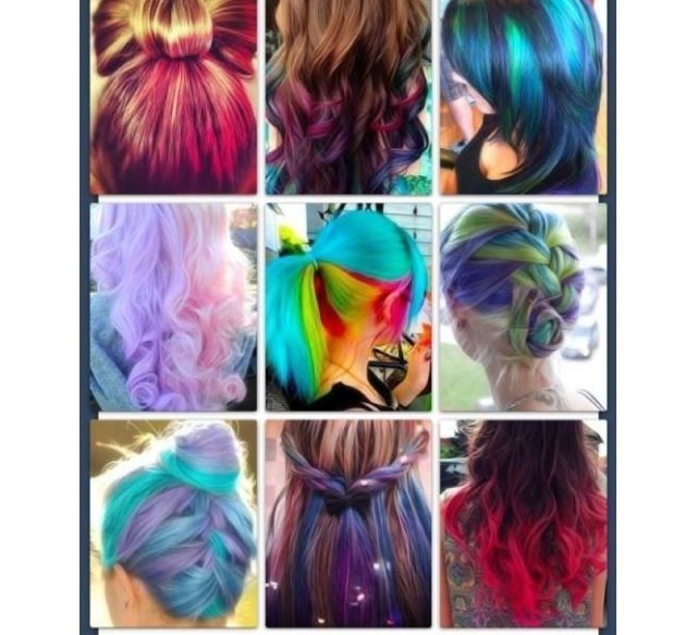Cool hairstyles for dyed hair HAIR SYLES Pinterest