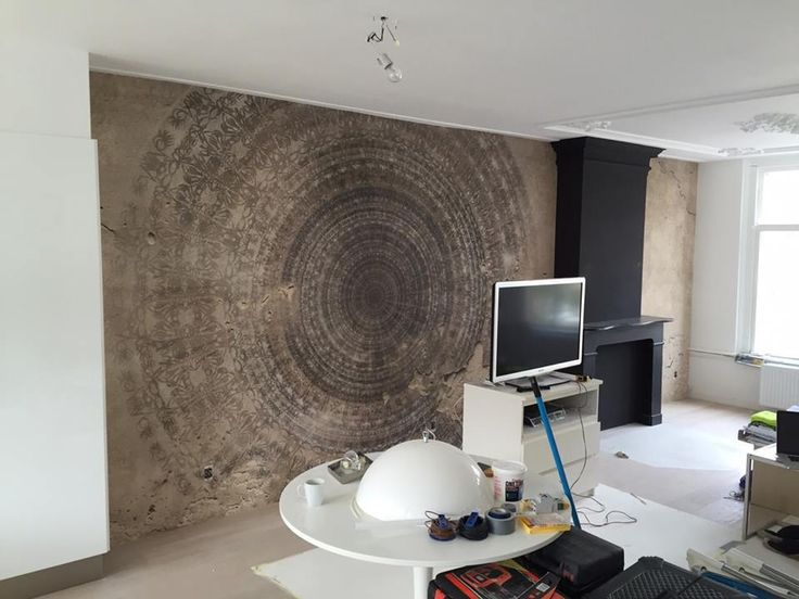 25 beste idee n over houten behang op pinterest rustiek behangpapier planken muren en - Deco eetkamer rustiek ...