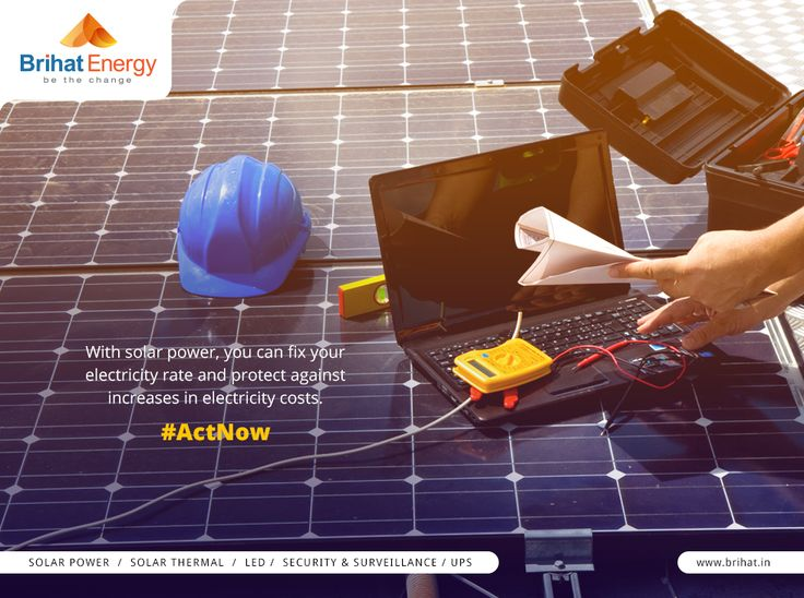 With solar power, you can fix your electricity rate and protect against increases in electricity costs. #ActNow  Visit: goo.gl/q6ECB2