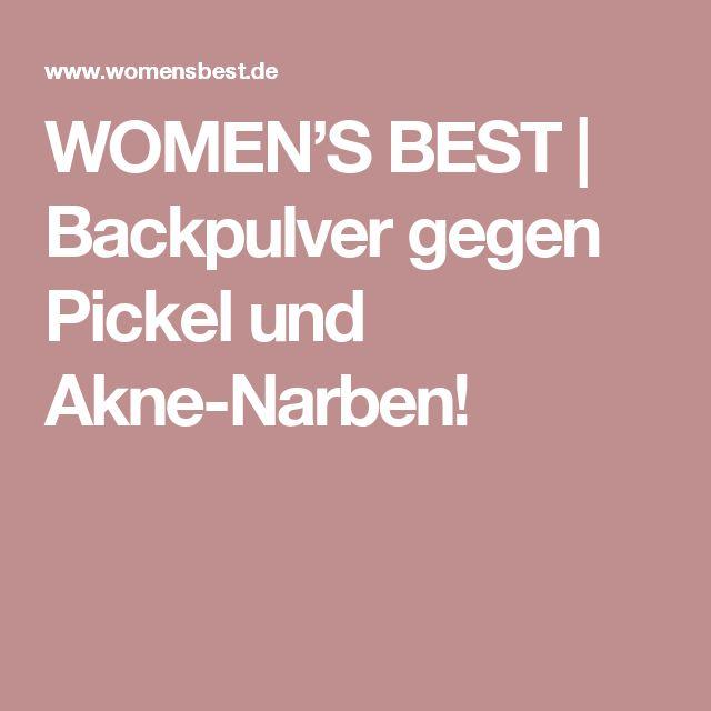 WOMEN'S BEST | Backpulver gegen Pickel und Akne-Narben!