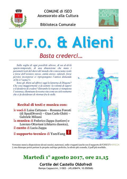"""Per la rassegna """"letti di Notte"""", Ufo & Alieni al Castello Oldofredi"""