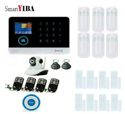 Best 25 home alarm kits ideas on pinterest apple home smartyiba wifi wireless alarm system app metal remote controller blue strobe siren ip camera surveillance gsm solutioingenieria Images