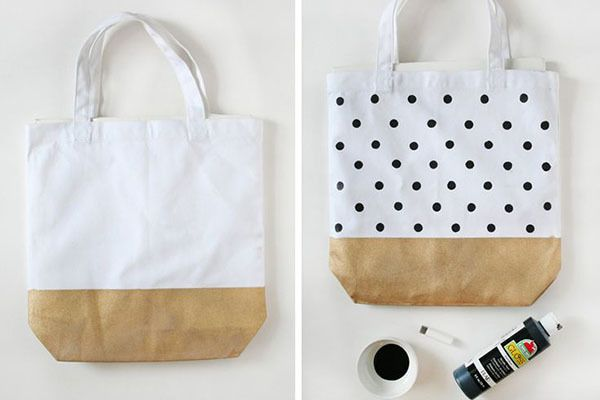 DIY bridesmaid gift painted canvas tote bags. See more creative gift ideas here: http://www.mywedding.com/articles/diy-bridesmaids-gifts-theyll-love/