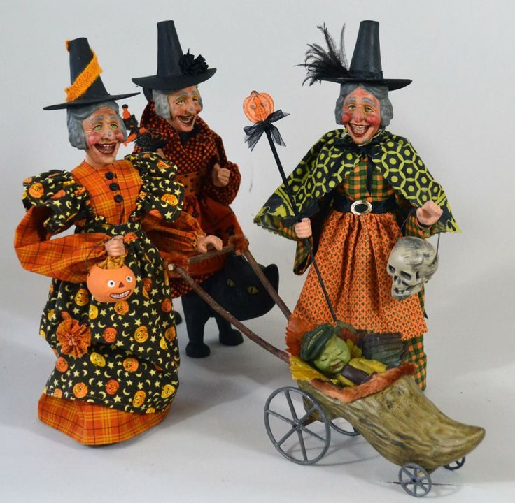 halloweeen two sisters studios halloween for sale - Vintage Halloween Decorations For Sale