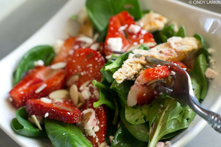 Strawberry Chicken Salad, clean eating recipes