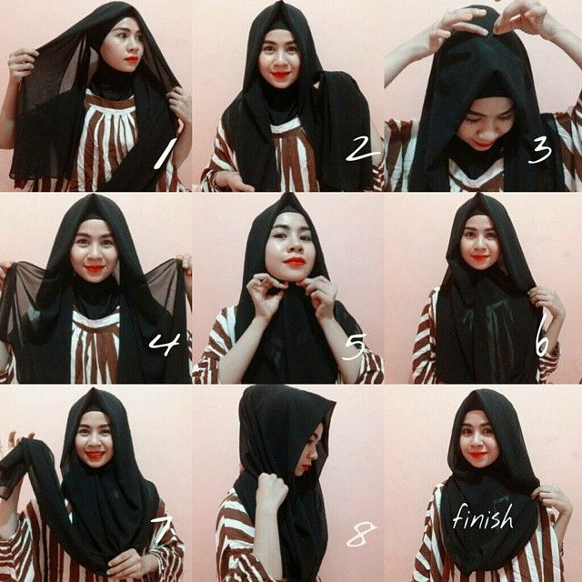 I love black as a clothing color, it's so classy and elegant, I like it more as a hijab it personaly suits my face color, this hijab style is too classy with a point on the front which give a…
