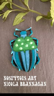 Wooden Bug Brooch – brooch for insect lovers