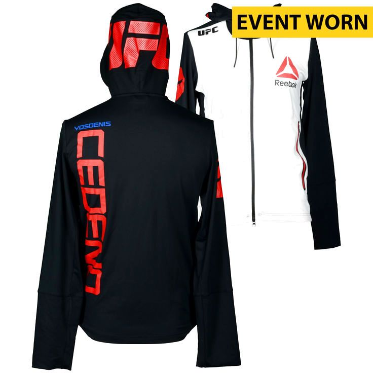 Yosdenis Cedeno Ultimate Fighting Championship UFC 189 Mendes vs. McGregor Event-Worn Walkout Hoodie - Fought Cody Pfister in a Lightweight Bout - $239.99