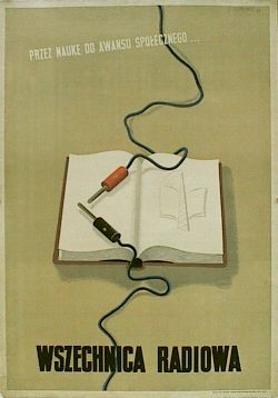 designer: Trepkowski Tadeusz poster title: Wszechnica radiowa year of poster: 1949