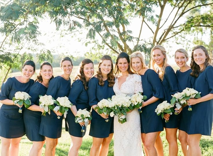 Bridesmaids' Dresses: Annie Griffin  Wedding Dress: Pat Kerr