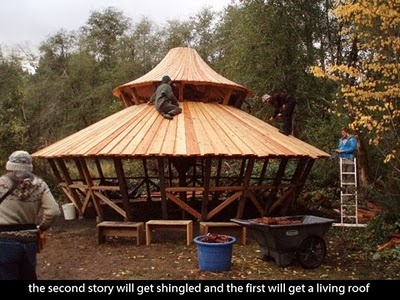 a two tier yurt
