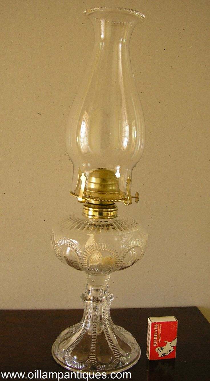 Regent antiques lights antique victorian oil lamp c 1860 - Clear Glass Zipper Loop Stand Lamp Circa 1900 Vintage Lightingoil