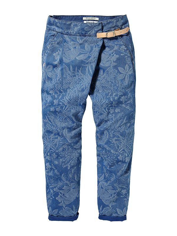 MAISON SCOTCH laser printed wrap around pant
