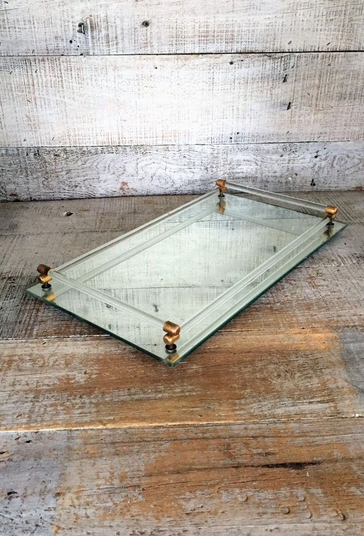 White vanity mirror vintage mirror vanity tray vintage mirrored - Vanity Mirror Tray Vintage Mirror Rectangle Dresser Tray Art Deco Mirrored Tray Rectangular Glass Tray Glass Rod And Brass Mirrored Tray
