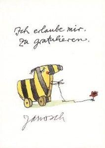 Tigerente Janosch Postkarte - Ich erlaube mir zu gratulieren  Glückwünsche Geburtstag