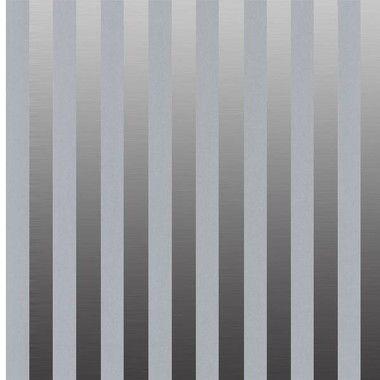 Carta da parati a righe argento e grigio brillante metallizzato - Spidersell Italia | Decorazione creativa