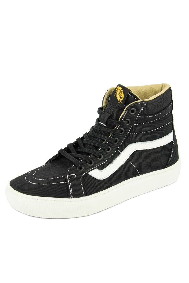 Vans Sk8 Hi Cup Shoes in Black and White