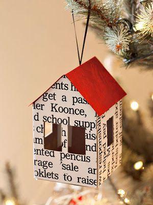 casita para el árbol de navidad #manualidades #navidad #diy #original #ideas #decoracion