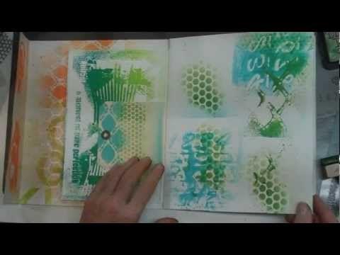 Spray paints & Stencils technique video Diane Marra Adore HIM Creations