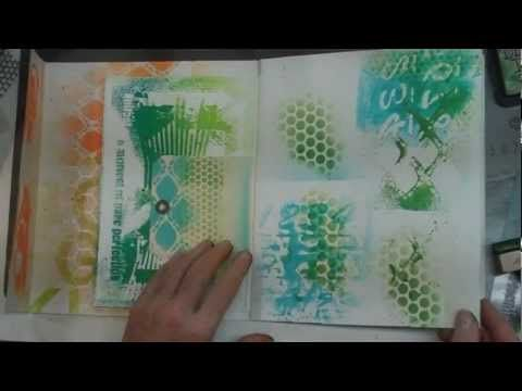 Spray paints & Stencils technique video Diane Marra Adore HIM Creations